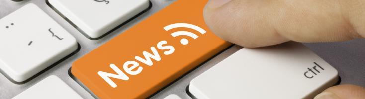 PC-Tastatur mit Newsfeed-Taste