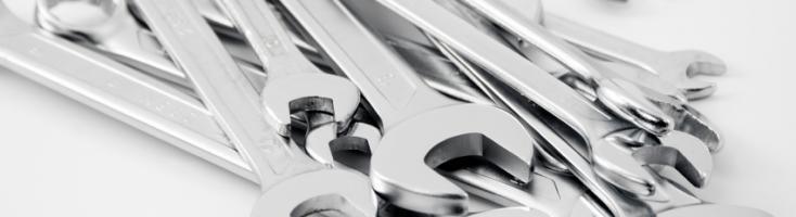 Sammlung von Schraubenschlüsseln