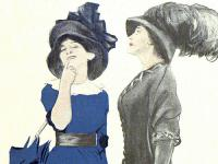 Zwei Frauen mit Hut