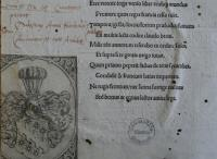 Wappen-Exlibris von Christoph Gewold und handschriftliche Marginalien Aventins