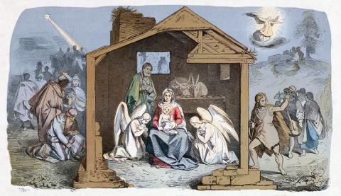 Tony Muttenthaler: Christkindleins Geburt und Einkehr beim frommen und bösen Kindle
