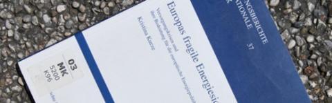 """Buch """"Europas fragile Energiesicherheit. Versorgungskrisen und ihre Bedeutung für die europäische Energiepolitik"""""""