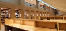 Lesebereich der Fachbibliothek Philologicum der LMU