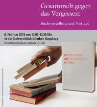 Buchvorstellung Gesammelt gegen das Vergessen am 6. Februar 2019 in Augsburg