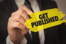 """Schriftzug """"Get Published"""""""