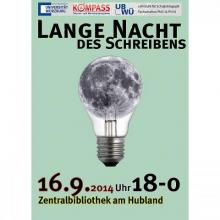 Plakat Veranstaltung Lange Nacht des Schreibens