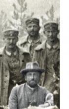 Prinz Max von Sachsen mit deutschen Soldaten, Belgien 1914 (?)