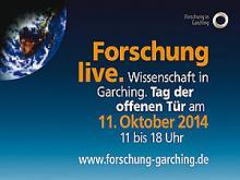 Werbebanner zum Tag der offenen Tür am Forschungscampus Garching