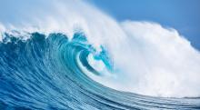 Große, sich brechende Welle