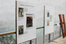 Karikaturen-Ausstellung in der Teilbibliothek 4 der UB Bamberg